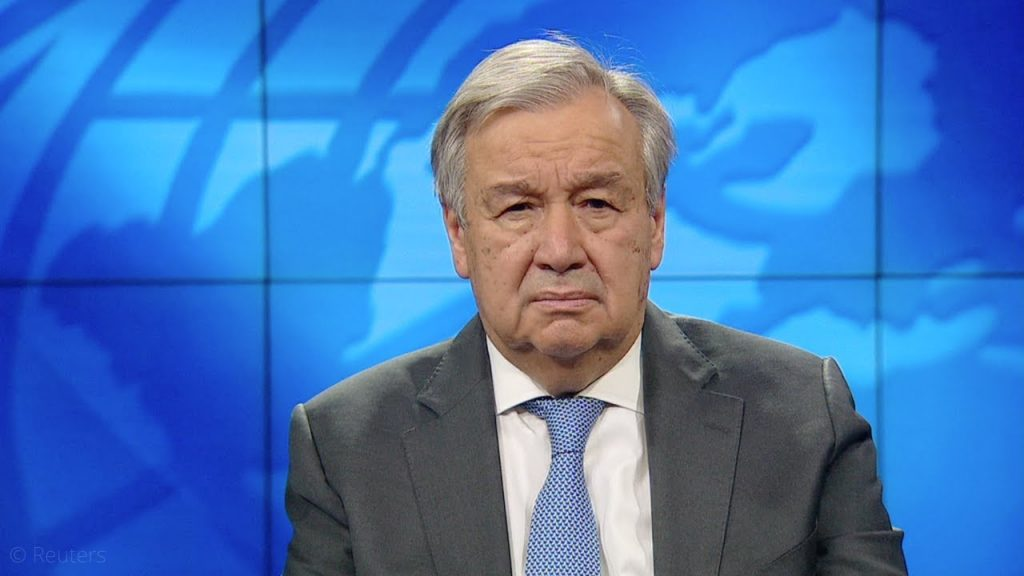 António Guterres Emissions Gap Report Message