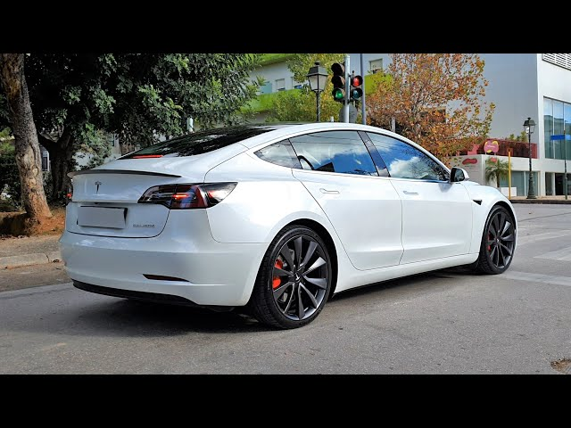 Tesla Model 3 Performance in Hotel Semiramis EV Loader Feature