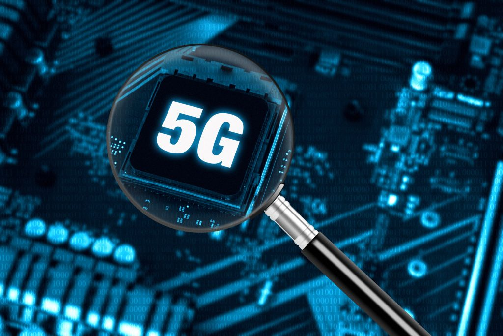 Telecommunications technology background of 5G high-speed mobile