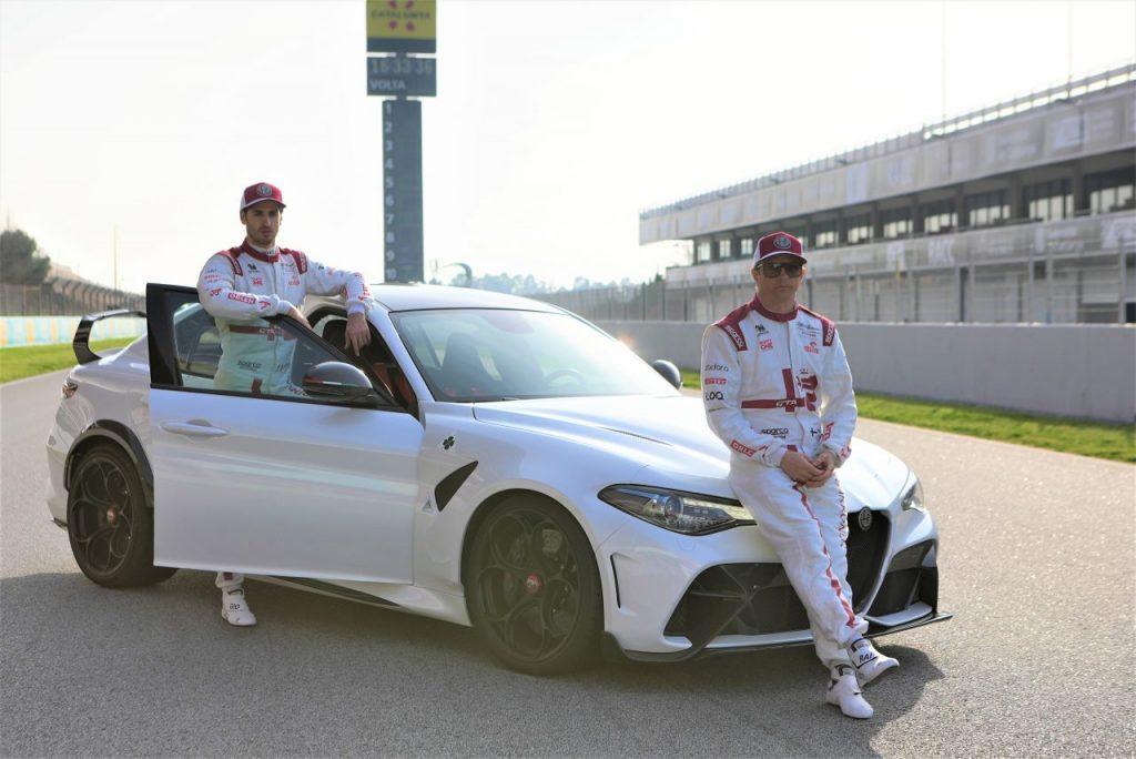 01 Giulia GTAm, Antonio Giovinazzi and Kimi Räikkönen