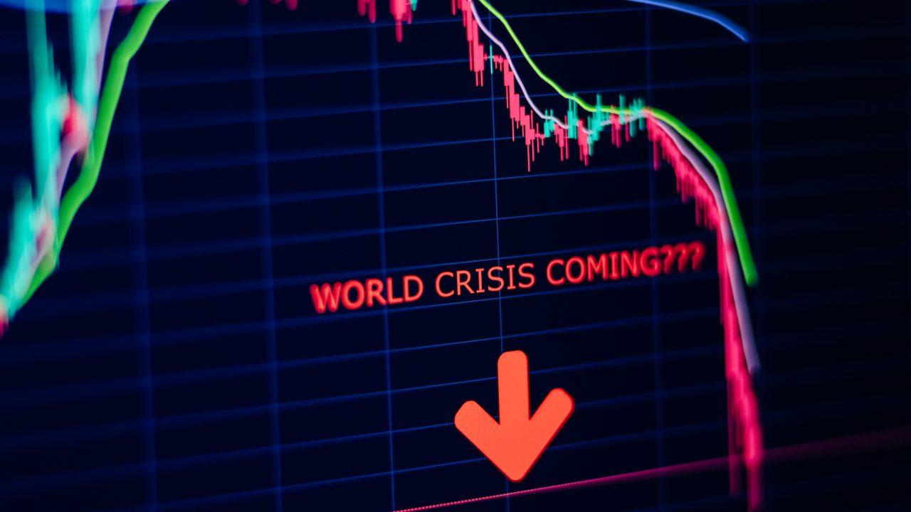 economy crisis panic stock market crash graph