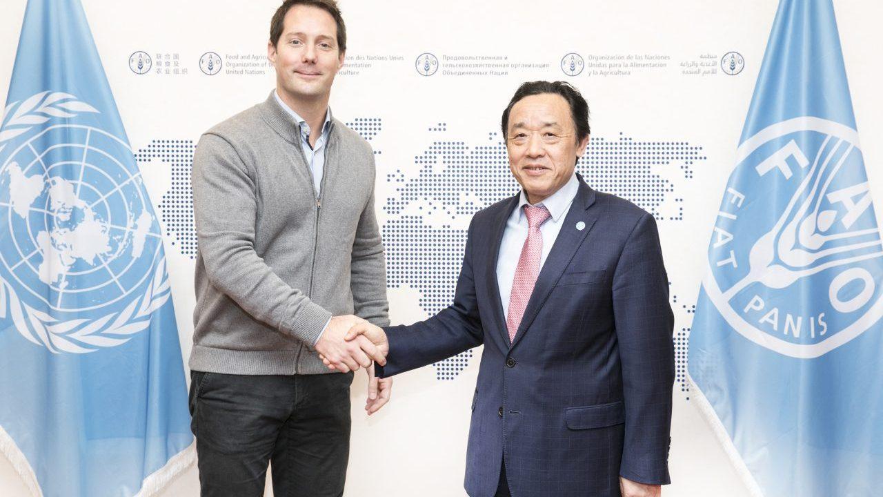 Qu Dongyu  with Thomas Pesquet
