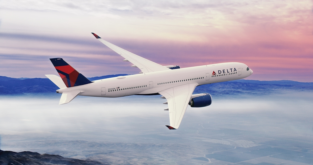Delta Air Lines_A350 soaring above the clouds