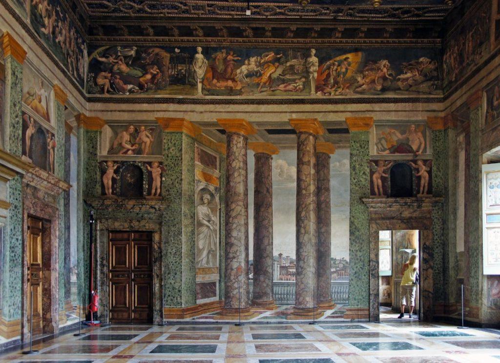 IT Villa Farnesina Hall Perpective Views wall north