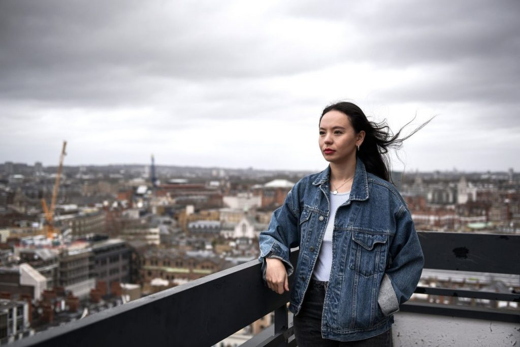 Soma Sara founded the platform Everyone's Invited as a space for young women and girls to share their accounts of sexual violence.Credit...Mary Turner for The New York Times
