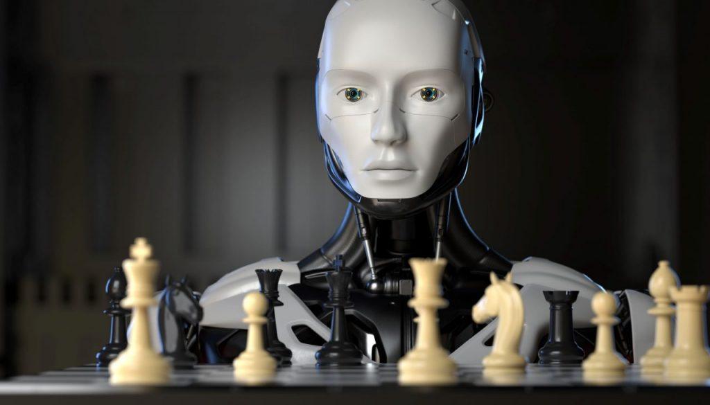 robot-playing-a-game-of-chess-233TQKJ