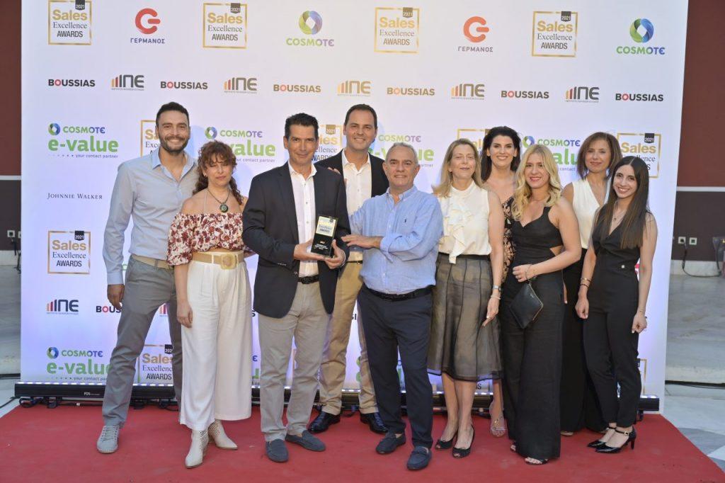 Η ομάδα της ΝΤΕΛΟΠΟΥΛΟΣ Α.Ε.Β.Ε. στη βράβευση των Sales Excellence Awards