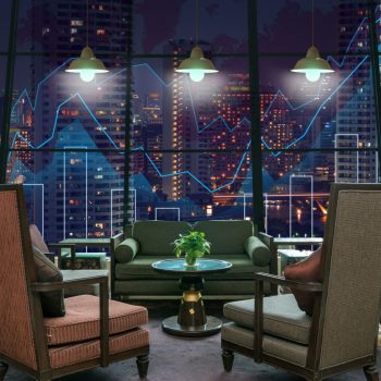 lobby-area-of-a-hotel-which-can-see-trading-graph--79XJ4R4