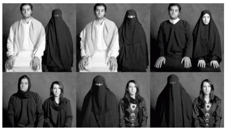 """Art by Yemeni artist Boushra Almutawakel, """"What if?"""" (Instagram)"""